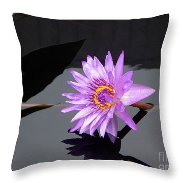 Lavender Lily Throw Pillow