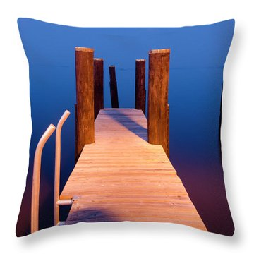 Leading Into The Big Blue Throw Pillow