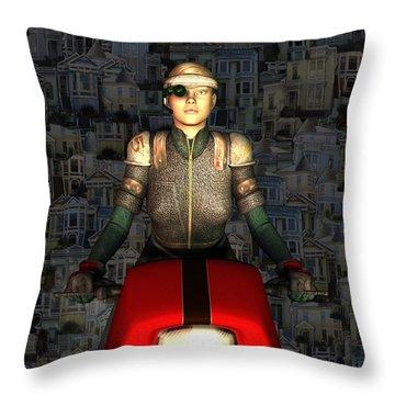 Leaving San Francisco Throw Pillow