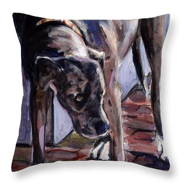 Legs Throw Pillow by Molly Poole