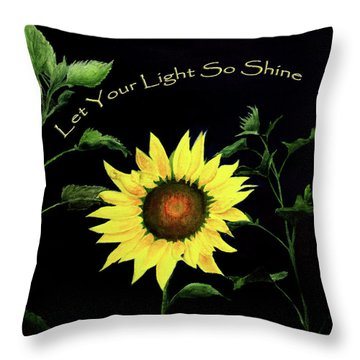 Let Your Light So Shine Throw Pillow