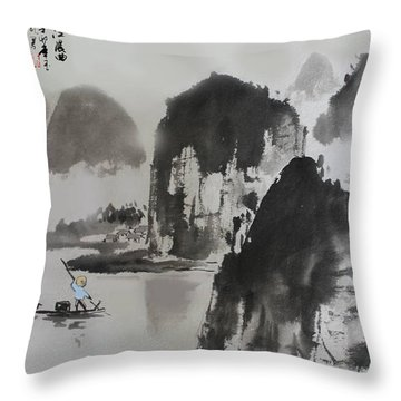 Li River Throw Pillow