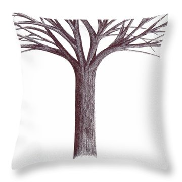 Second-generation....tree Without Roots Throw Pillow by Giuseppe Epifani