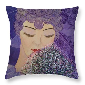 Lilac And Lace Throw Pillow