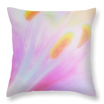 Throw Pillow featuring the painting Lily by Irina Hays