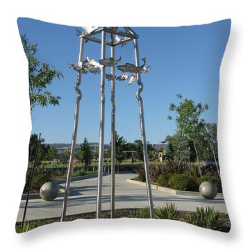 Little Chico Creek Sculpture Throw Pillow by Peter Piatt