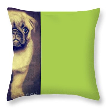 Little Dog Throw Pillow by Angela Doelling AD DESIGN Photo and PhotoArt