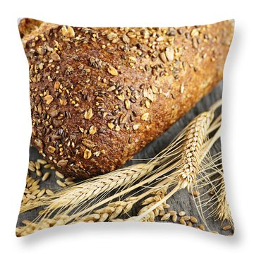 Loaf Of Multigrain Bread Throw Pillow