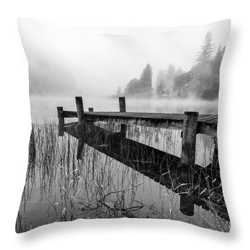 Loch Ard Early Mist Throw Pillow