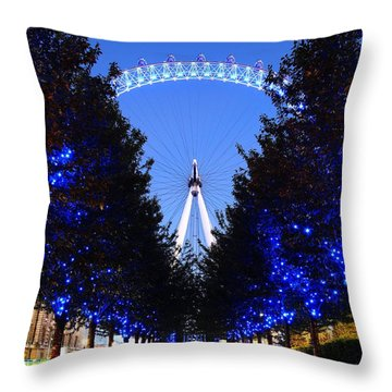 London Eye 3 Throw Pillow by Mariusz Czajkowski