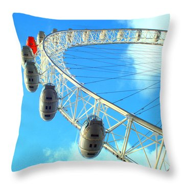 London Eye Throw Pillow by Rachel Mirror