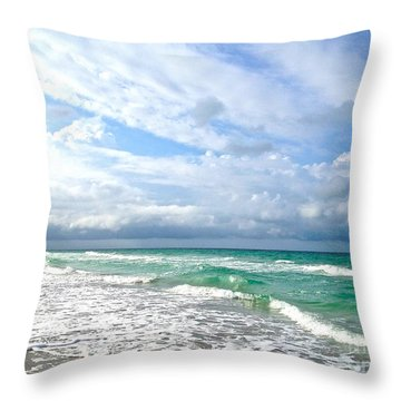 Paradise Found Throw Pillow by Margie Amberge