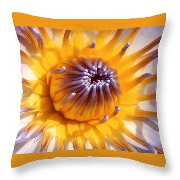 Lotus Lily Throw Pillow by Jocelyn Kahawai