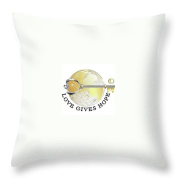 Love Gives Hope Throw Pillow by Laurie L