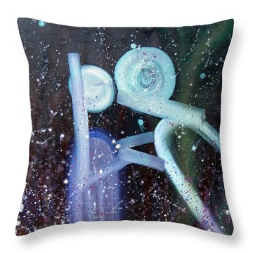 Throw Pillow featuring the painting Love by Min Zou