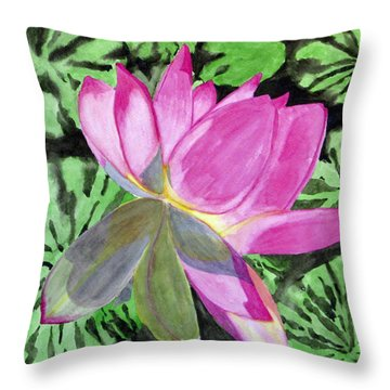 Lovely Lily Throw Pillow by Debi Singer