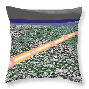 Throw Pillow featuring the digital art Low Tide Color 322  by Lyle Crump