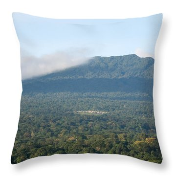 Luba On Island Of Bioko In Equatorial Guinea Throw Pillow