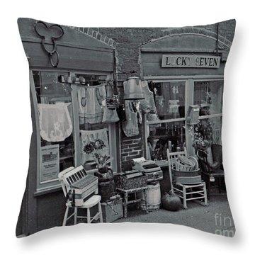 Throw Pillow featuring the photograph Lucky Seven by Juls Adams