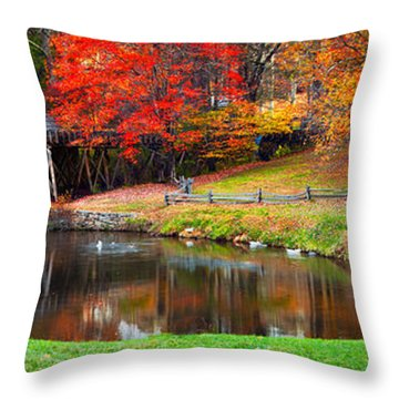 Mabry Mill Pano Throw Pillow