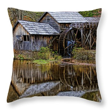 Throw Pillow featuring the photograph Mabry Mill by Ola Allen