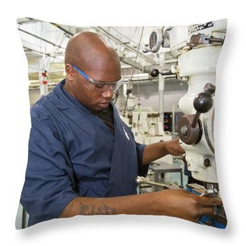 Drill Presses Throw Pillows