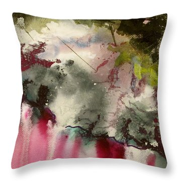 Magenta Cliffs Throw Pillow