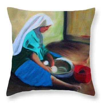 Making Bread Throw Pillow