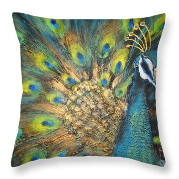 Male Beauty Throw Pillow
