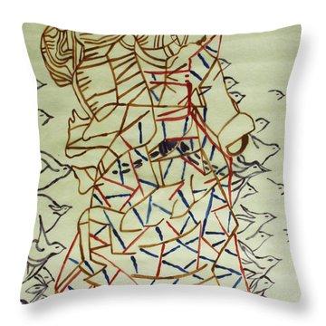 Mama Asia Throw Pillow by Gloria Ssali