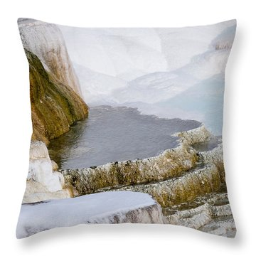 Mammoth Terraces Throw Pillow