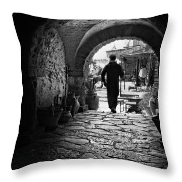 Man In An Archway / Hammamet Throw Pillow