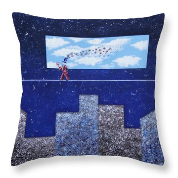 Man In Love Throw Pillow by Graciela Bello