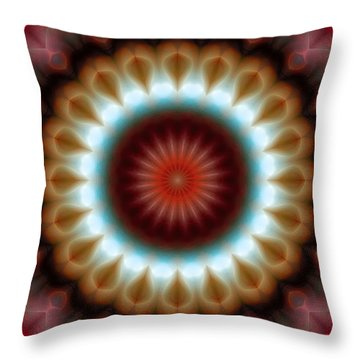 Throw Pillow featuring the digital art Mandala 83 by Terry Reynoldson
