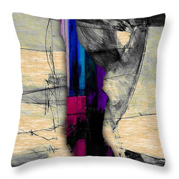 Manhattan Map Watercolor Throw Pillow by Marvin Blaine