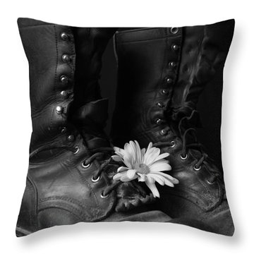 Many Miles Throw Pillow