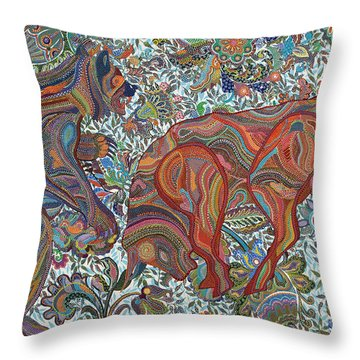 Market Nature Throw Pillow