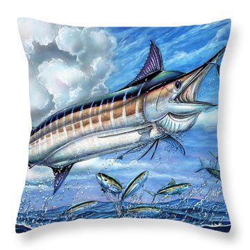 Marlin Queen Throw Pillow