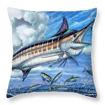 Marlin Queen Throw Pillow