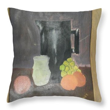 Throw Pillow featuring the painting #2 by Mary Ellen Anderson
