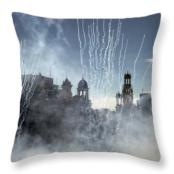 Mascleta Valenciana Throw Pillow