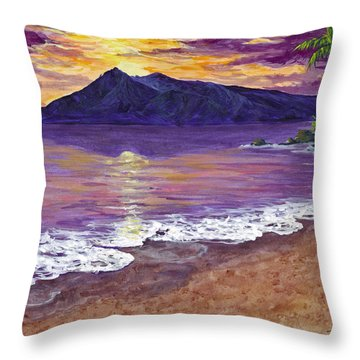 Maui Sunset Throw Pillow