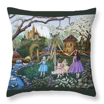 Mayday Serenade  Throw Pillow by Linda Simon