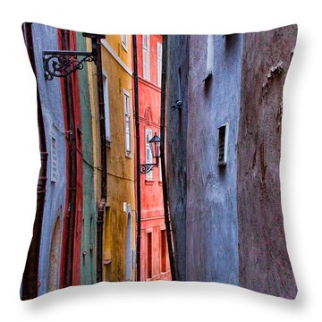 Medieval Alley Throw Pillow