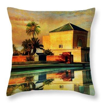 Medina Of Marakkesh Throw Pillow by Catf