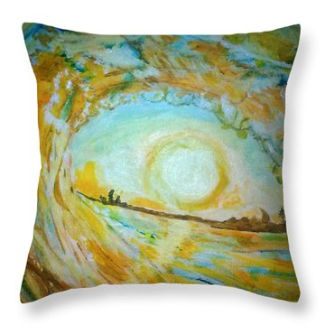 Mellow Yellow  Throw Pillow by Michelle Reid