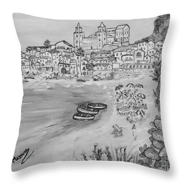 Throw Pillow featuring the painting Memorie D'estate by Loredana Messina