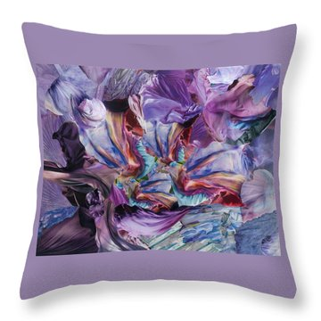 Merlin's Magic Throw Pillow by Denise Mazzocco