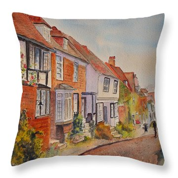 Mermaid Street Rye Throw Pillow