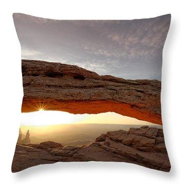 Mesa Arch Sunburst Throw Pillow